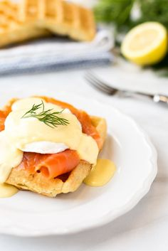 Served atop crisp, savory dill waffles, Smoked Salmon Eggs Benedict combines some of the best flavors of brunch into a single bite! Waffle Recipes, Brunch Recipes, Breakfast Recipes, Brunch Ideas, Breakfast Ideas, Nutritious Breakfast, Vegetarian Breakfast, Breakfast Club, Breakfast Dishes