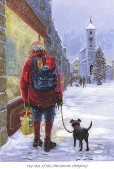 The Last of the Christmas Shopping. Print by Jim Taylor.