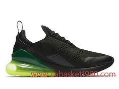 check out 5f75a 790f6 Nike Air Max 270 Neon Green AH8050-011 Chaussures Nike Prix Pas Cher Pour  Homme