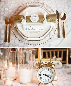 table setting new years eve wedding have alarms go off at midnight new years eve wedding ideas clock wedding theme