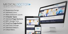 Download and review of MedicalDoctor - WordPress Theme For Medical, one of the best Themeforest Retail themes