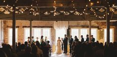 Lighting at Stockroom - Brett & Jessica Photography - NC Wedding Planner - Orangerie Events