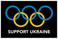Flag of Ukraine with Olympic rings