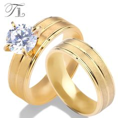 TL Simple Wide Gold Color Rings Top Quality Party Rings Jewelry Size American Standred Size Huge Cubic Zircon Stone Large Rings -in Rings from Jewelry & Accessories on Aliexpress.com | Alibaba Group