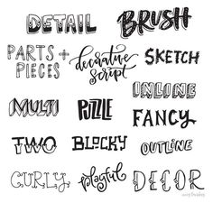 20 Best Different lettering styles images | Letter fonts, Drawing