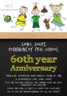 Sans Souci Community Pre-School 60th anniversary flyer design