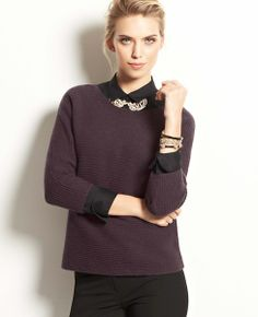 Ribbed Wedge Sweater #ATHauteHoliday