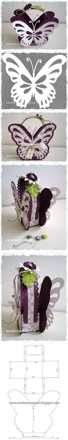 how to DIY Butterfly Paper Gift Basket | www.FabArtDIY.com LIKE Us on Facebook…
