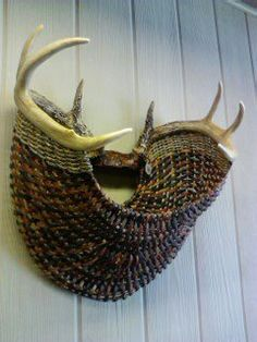 full rack with multi earthtone reed~by eileen meisner of pine lake baskets, wisconsin