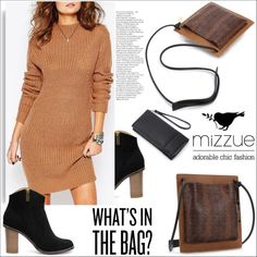 What's in the bag? Mizzue Accessories by helenevlacho on Polyvore featuring moda, women's clothing, women's fashion, women, female, woman, misses, juniors and mizzue