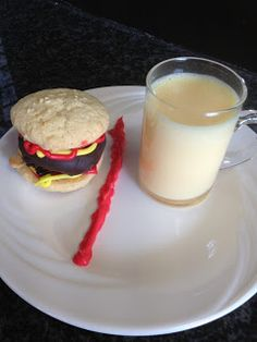 In this weeks Parsha, one of the Mitzvos we learn about is the prohibition of mixing meat and milk.  To demonstrate this I made 'burger...