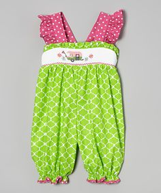 Look at this Sweet Teas Children's Boutique Green Vintage Camper Bubble Romper - Infant & Toddler on #zulily today!39.