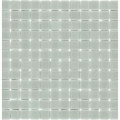 """Elida Ceramica12-1/2"""" x 12-1/2"""" Recycled Mosaic Light Gray Ice Glass Wall Tile"""