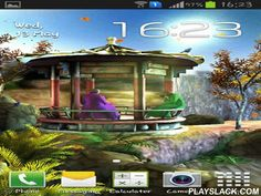 Oriental Garden 3D  Android App - playslack.com , Oriental garden 3D - pretty east garden will transport you order and compatibility till the extremity of the day. house, waterfall, vertebrates, leaves, trees and crops make the wallpapers look realistic.