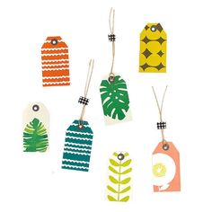 Gift Tags - Set of 6 - Tropical Leaves
