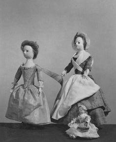 Wooden dolls, ca. 1730-1740. #Halloween #Dolls