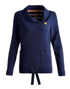 Joules null Womens Sweat, French Navy.                     With its big shawl collar and large patch pockets, this sweatshirt will take you on a trip into a world of warmth and cosiness the moment it's pulled on. It's a journey you'll want to continue all season long. Crafted in slub cotton jersey for that lived-in-forever feel.