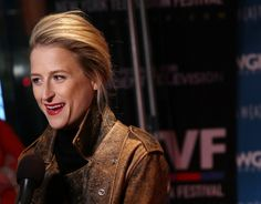 """Actress Mamie Gummer speaks to the media at the 11th Annual New York Television Festival screening of """"Manhattan"""" Season Two at the SVA Theater on October 19, 2015 in New York City."""
