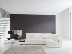 divano ad angolo in pelle moderno antea maxdivani max divani ... - Ampio Divano Ad Angolo In Tessuto Grigio Bianco
