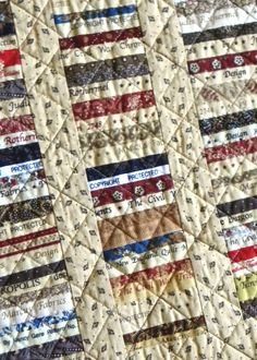 Persnickety Quilts: Falling Through the Cracks  Made with selvages of Civil War fabrics