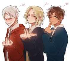Hetalia BTT: Prussia, France and Spain