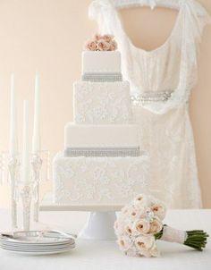 wedding cake lace applique