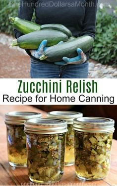 If you have never given zucchini relish a try, I want to encourage you to make a batch this summer. I've been using this zucchini relish recipe for years and the funny thing is, you can't even tell y (Canning Squash Recipes) Zuchini Relish, Zucchini Relish Recipes, Canned Zucchini, Zucchini Pickles, Zuchinni Recipes, Pickled Zucchini, Growing Zucchini, Shredded Zucchini, Can You Freeze Zucchini
