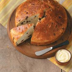 Favorite Irish Soda Bread  My best friend Rita O'Malley shared this irresistible Favorite Irish Soda Bread recipe. It bakes up high, with a golden brown top and a combination of sweet and savory flavors.   —Jan Alfano, Prescott, Arizona