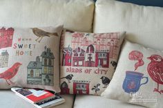 Vintage Bird Series Pillows Decorate Sweet Home Cushion | Buy Wholesale On Line Direct from China