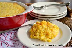 Sunflower Supper Club: Creamy Corn Bake