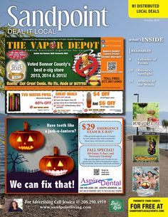 October 2015 Sandpoint Deal It Local | Sandpoint Idaho | www.sandpointliving.com