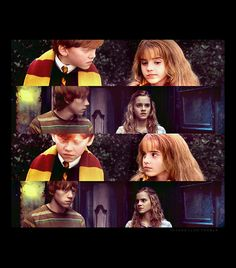 Ron + Hermione. Still the same after 6 years