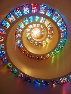 a spiral in stained glass...beautiful
