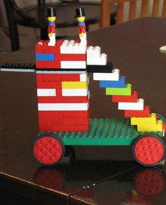 Ancient Assyrain siege tower with legos from Creekside Learning