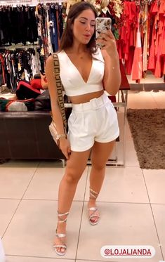 Winter Fashion Outfits, Fashion Days, Look Fashion, Girl Fashion, Summer Outfits, Cute Outfits With Shorts, Cute Casual Outfits, Short Outfits, Looks Party
