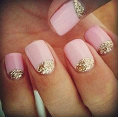 Glitter and pink.....sweet