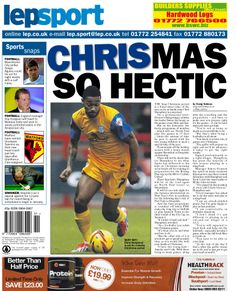 Today's back page 19-12-13