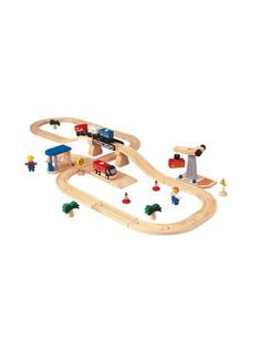 Road & Rail Transportation Set 48 Pieces by PlanToys at Gilt $87.04 Gilt (incl. Duties and VAT) was $140.80