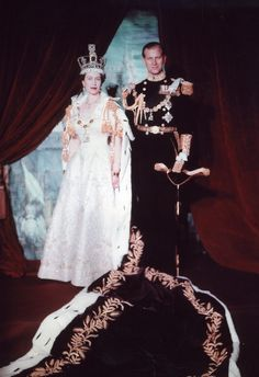Coronation of Queen Elizabeth II - 1952, with the Duke of Edinburgh, Prince Phillip as the queen's consort.