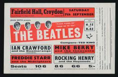 1963 Complete Handbill/Flyer for Croydon UK 1963