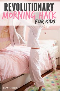 Revolutionary Morning Routine Hack For Kids so they can start the day RIGHT! Super easy and fun a whole family. What a life saver!