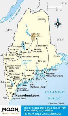 See the best of Maine in three weeks: Best of Maine Travel Map Travel Maps, Travel Usa, Places To Travel, Travel Destinations, Places To Go, Vacation Places, Travel Posters, Dream Vacations, Vacation Spots