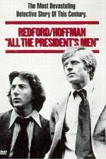All the Presidents Men: Reporters Woodward and Bernstein uncover the details of the Watergate scandal that leads to President Nixon's resignation.  Political movie. Intense in some parts. See how it was with the scandal.