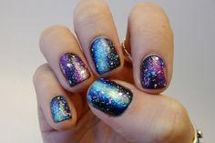 awesome Casa de Polish: Nail Art Nail-Off: Galaxy Nails