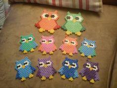 Hama pearls owls
