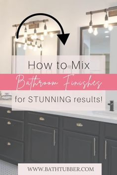 You can mix finishes in the bathroom if you know the rules! Get designer tips to will help you achieve stunning results. Learn how to easily create an upscale, custom look. Bathroom finishes. Bathroom finishes ideas. Bathroom finishes mixing. Mixing metal finishes in bathroom. Mixing finishes in bathroom.#bathroomfinishes #bathroomfinishesideas #bathroomfinishesmixing #mixingmetalfinishesinbathroom #mixingfinishesinbathroom Very Small Bathroom, Spa Like Bathroom, Bathroom Ideas, Elegant Bathroom Decor, Bathroom Accessories Luxury, Diy Bathroom Remodel, Relaxing Bath, Bath Ideas, Diy On A Budget