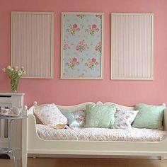 Mount wallpaper to foam board.
