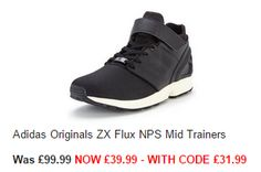 Adidas Originals ZX Flux NPS Mid Trainers RRP £99.99 NOW £31.99 delivered using code WDEAL20