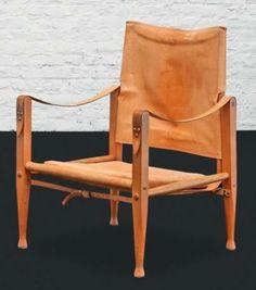 KAARE KLINT Danemark Fauteuil modèle «4700» dit «Safari» Teck et cuir naturel