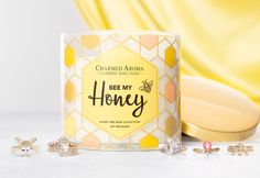 Bee My Honey Candle - Honey Bee Ring Jewellery Collection Bee shaped / Hexagon geometric rings Jewelry Candles, Candle Rings, My Honey, Golden Honey, Bee Ring, Bee Jewelry, Best Candles, Save The Bees, Decoration